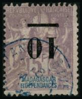 N°49a 10 Sur 5F Violet, Surcharge Renversée - TB