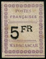 N°13 5F Violet Et Noir S/gris, Signé Brun - TB