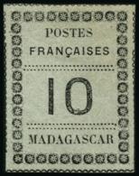 N°9 10c Noir S/vert-bleu - TB