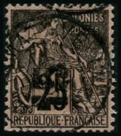 N°5A 15 Sur 25c Noir S/rose, Surcharge Verticale - TB