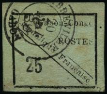 N°15 25c Noir/vert, Signé Brun - TB