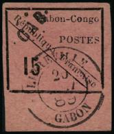 N°14 15c Noir S/rose, Léger Pelurage  Habituel  - TB