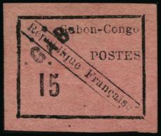 N°14 15c Noir/rose, Léger Pelurage Normal Pour Ce Timbre - B
