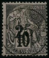 N°9 25 Sur 10c Noir S/lilas, Signé Calves, Brun Et Roumet, RARE - TB