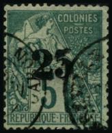 N°8 25 Sur 5c Vert, Signé Calves - TB