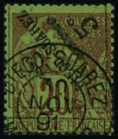 N°12a 5c Sur 20c Brique/vert Surcharge Renversée - TB
