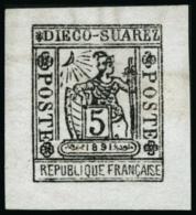 N°10 5c Gris-noir - TB