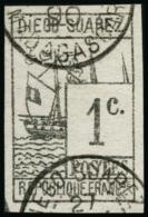 N°6 1c Gris-noir  - TB