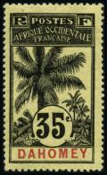 N°26 35c Noir S/jaune - TB