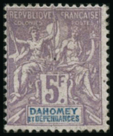 N°17 5F Violet Terne S/gris - TB