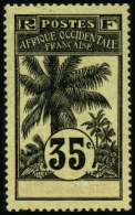 N°29a 35c Noir S/jaune Clair, Variété Sans Côte D'ivoire - TB
