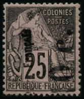 N°5b 10c Sur 25c Noir S/rose, Surcharge Verticale - TB