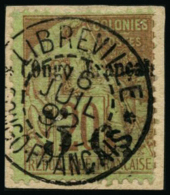 N°3 5c Sur 20 S/fragment Signé Brun Et Roumet - TB