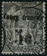 N°1 5c Sur 1c Noir/azuré - TB