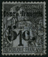N°1 5c Sur 1c Noir S/azure - TB