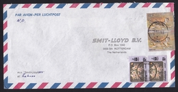 Malaysia: Airmail Cover Labuan To Netherlands, 1983, 4 Stamps, Tiger, Flower, Ship Mail Smit Lloyd (1 Stamp Damaged) - Maleisië (1964-...)