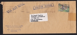 Malaysia: Airmail Cover Pulau Pinang To Netherlands, 1986, 1 Stamp, Sloth Animal (damaged) - Maleisië (1964-...)