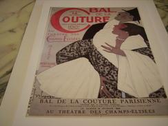 ANCIENNE PUBLICITE ART DECO BAL DE LA COUTURE 1925 DE G. LEPAPE - Advertising