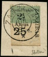 N°37Aa 21/2 Vert-pâle (type III) Signé Scheller  - TB