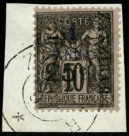 N°33 2 1/2 Et 25c Sur 1a, Signé Scheller  RARE - TB