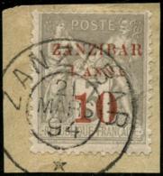 N°13b 1a Et 10 Sur 3c Gris (type III), Signé Scheller - TB