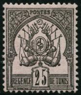 N°5 25c Noir Sur Rose - TB