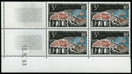 N°20 5F Archipel Crozet, Bloc De 4 CD 13/9/63 - TB