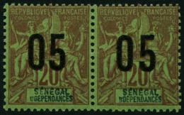 N°48A 05 Sur 20c , Chiffres Espacés, Tenant C à Normal - TB