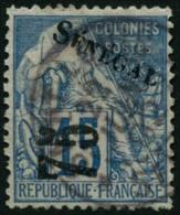 N°6 75 Sur 15c Bleu, 1 Dent Courte - TB