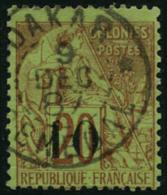 N°4e 10 Sur 20c Brique S/vert,  RARE - TB
