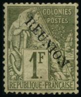 N°28 1F Olive, Signé Brun - TB
