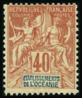 N°10  40c Rouge-orange - TB