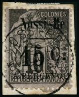 N°13 15c Sur 10c Noir S/lilas - TB