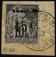 N°9 15c Sur 10 Marron Lilas (III) - TB