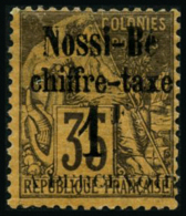 N°6 1F Sur 35c Violet Noir S/jaune - TB