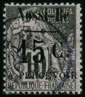 N°13 15c Sur 10c Noir S/lilas IV - TB