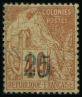 N°6 25 Sur 40c Rouge-orange (1er Tirage) Plus Value De 50% (yvert)  RARE - TB