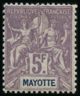 N°14 5F Violet S/gris - TB