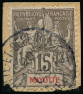 N°16 15c Gris S/fragment - TB