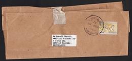 Malaysia: Wrapper Pulau Pinang To Netherlands, 1987, 1 Stamp, Tiger, Large Cancel (minor Damage) - Maleisië (1964-...)