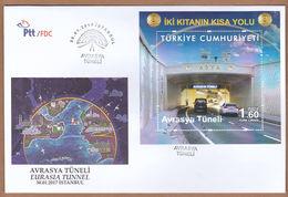AC - TURKEY FDC - EURASIA TUNNEL ISTANBUL 30.01.2017 - FDC