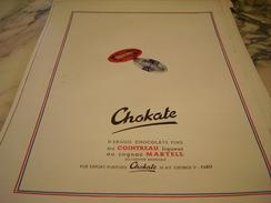 ANCIENNE PUBLICITE CHOCOLAT CHOKATE 1949 - Posters