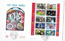 Enveloppes  1er Jour FDC . 2005 1 Enveloppe Les Jeux Vidéos - FDC