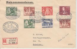Brief FDC  Zweden Registered Mail ???? - ... - 1855 Préphilatélie