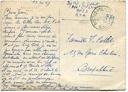 VR 177 Carte Postale De Bad Aachen Cachet Poste Aux Armées Belges  B.P.S.2 Du 14.10.59 Pour Bruxelles - Zone Belge