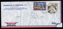 Venezuela: Airmail Cover To Germany, 1974, 3 Stamps, Triangle-shaped, Military History, Map, Parrot (minor Damage) - Venezuela
