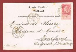 Anvers Zurenborg 4/4/1901 Stempel Op 10 C Fijne Baard, Zichtkaart Naar Avignon - Postmark Collection