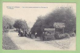 LA GILEPPE, Barrage : Restaurant Au Lion, Les Trois Routes Conduisant Au Barrage. 2  Scans. Edition Lagaert - Gileppe (Barrage)