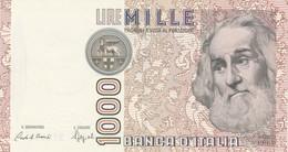 ITALIA BANCONOTA DA LIRE 1000 FDS MARCO POLO DECRETO MINISTERIALE 6/1/82 SERIE LF 372965 L - 1000 Lire