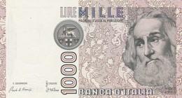 ITALIA BANCONOTA DA LIRE 1000 FDS MARCO POLO DECRETO MINISTERIALE 6/1/82 SERIE NA 593086 G - [ 2] 1946-… : République